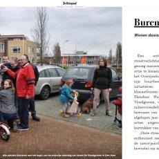"""""""Buren in Actie"""", de buurt in de Telegraaf van 7 mei 2016"""