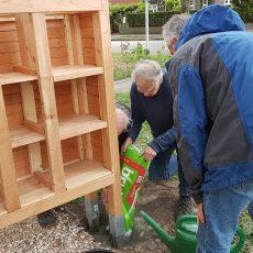 Bouw insectenhotel tijdens buurtfeest 7 september